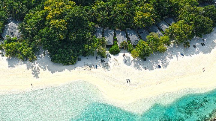 Beach Villa, hotel Royal Island, Maledivy