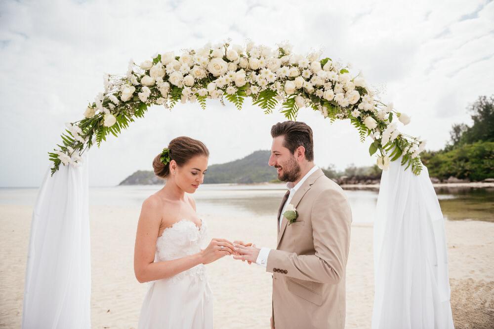 Svatba na pláži, Seychely